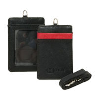 L0070-Genuine Leather Card Holder w Lanyard (MOQ500-109)